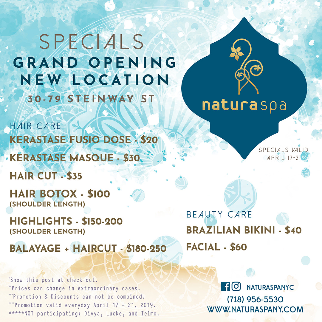 Natura Spa New York Promo